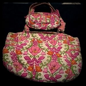 Vera Bradley Purse and cosmetic bag